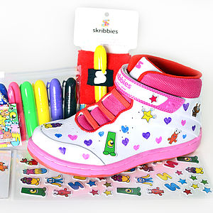 Girls Customisable Whiteboard Trainers - for over 5's