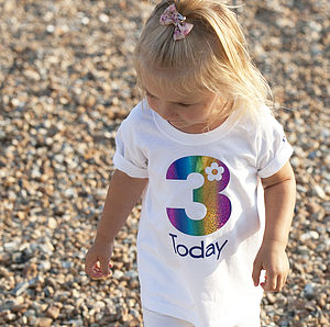 Personalised Girl's 'Birthday T Shirt'