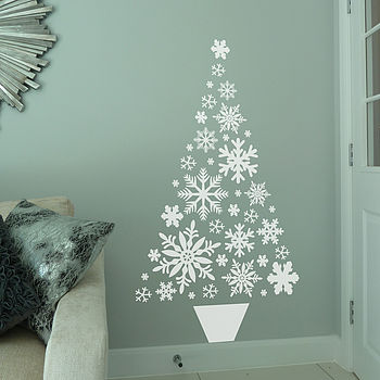Snowflake Christmas Tree Wall Sticker