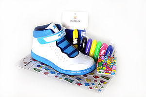 Unisex Customisable Whiteboard Trainers - best gifts for boys