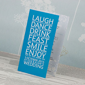 Smile Three Fold Wedding Invitation - wedding stationery