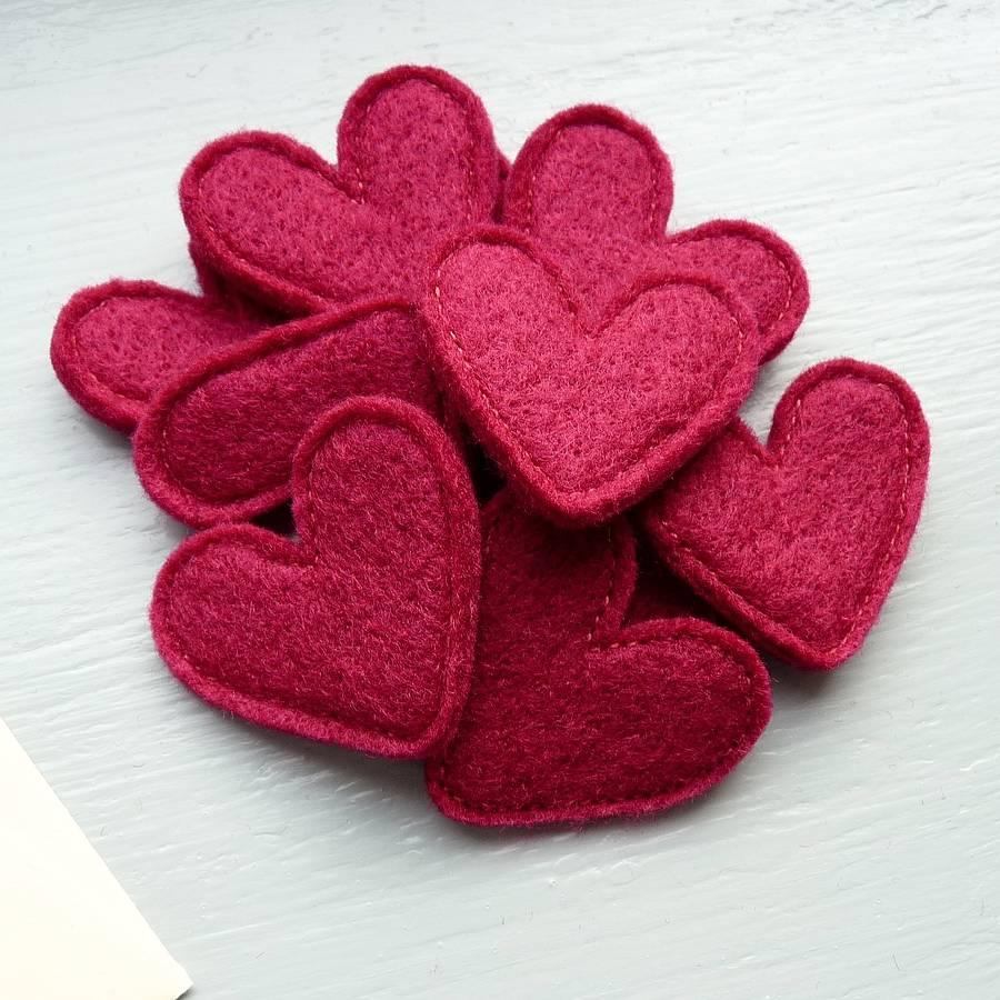 valentine 39 s handmade felt love heart confetti by be good darcey. Black Bedroom Furniture Sets. Home Design Ideas