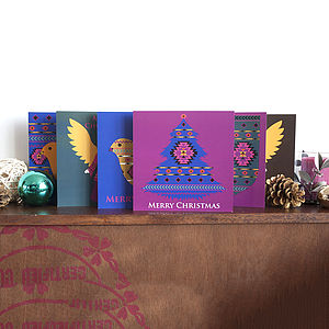 Christmas Cards Six Pack Tribal Christmas - cards