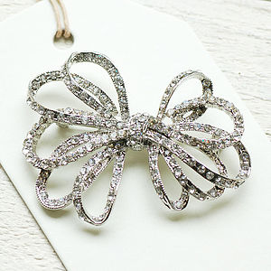 Vintage Style Ribbon Bow Brooch - pins & brooches
