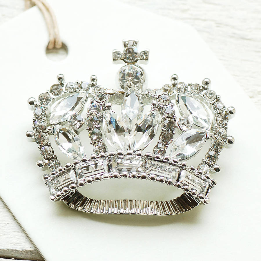 7739d01604f vintage style crown brooch by highland angel | notonthehighstreet.com