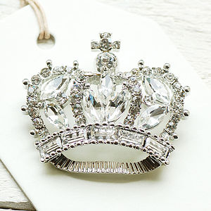 Vintage Style Crown Brooch - pins & brooches