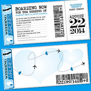 50 Boarding Pass Wedding Invitation
