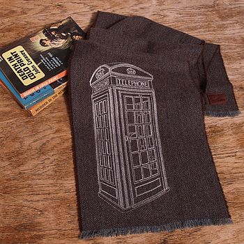 Phone Box Print Wool Scarf Personalisable
