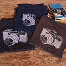 Printed Lambswool Camera Scarf