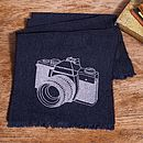 Printed Lambswool Camera Scarf Personalisable