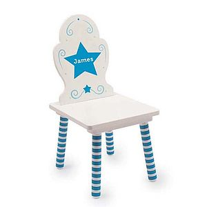 Personalised Wooden Child's Chair - children's room
