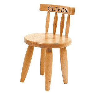 Child's Wooden Chair Personalised - baby & child