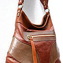 Brown Sanasha Leather Handbag