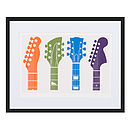 Guitar Headstocks Limited Edition Print