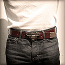 Morwelham Western Handmade Leather Belt