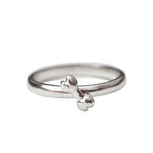Silver Bone Ring - pet-lover