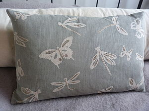 Dragonfly And Butterfly Cushion - cushions