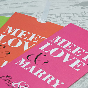 Meet Love Marry Wallet Wedding Invitation