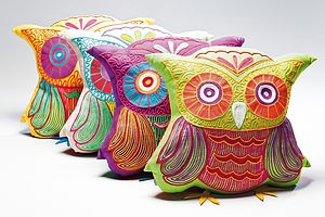 Owl Cushion - bedroom