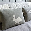 Little Grey Hare Cushion Pair