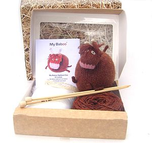 Highland Cow Knitting Kit - knitting kits