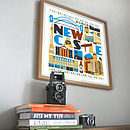 Newcastle Typographic City Print