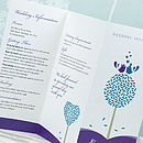 Tweet Love Twee 3-fold Wedding Invitation in Purple