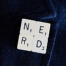 Personalised Vintage Scrabble Tile Brooch