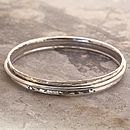 Sterling Silver Rotating Bangle