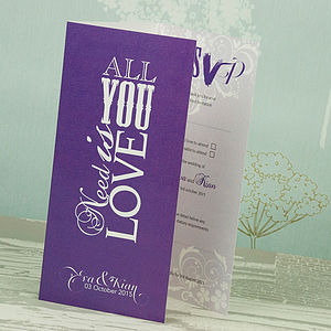 All You Need Three Fold Wedding Invitation - invitations