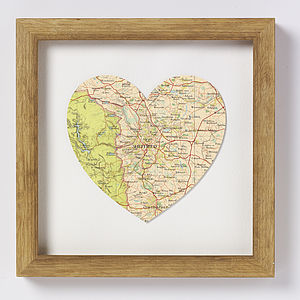 Sheffield Map Heart Print