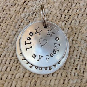 Silver Dogeared I.D. Pet Tag 26mm - pet tags & charms