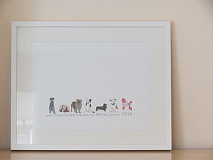 A Line Of Dogs Print - children's room