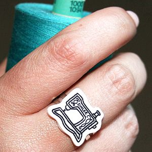 Sewing Machine Ring - gifts under £25 for her