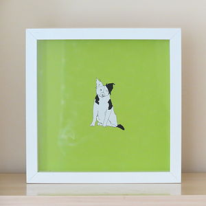 Border Collie Print - children's pictures & paintings