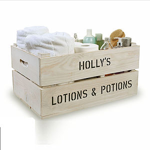 Personalised Bathroom Storage Crate - view all gifts for her