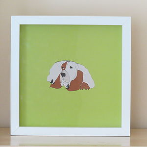Basset Hound Print - children's pictures & paintings