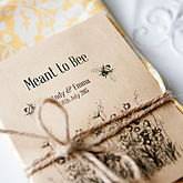 10 'Meant To Bee' Seed Packet Favours - weddings