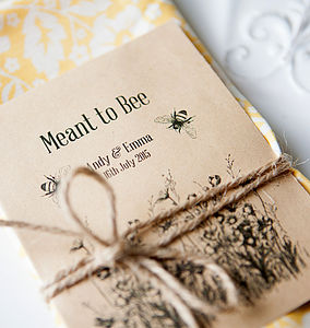 10 'Meant To Bee' Seed Packet Favours - wedding favours