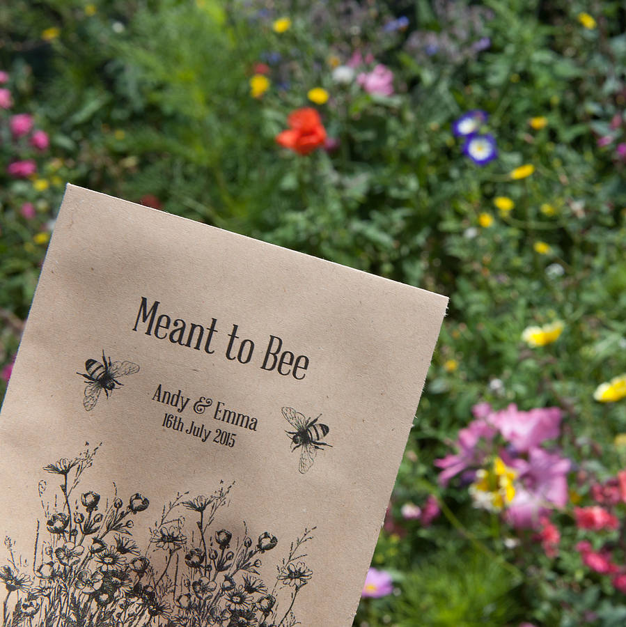 10 'meant To Bee' Seed Packet Favours By Wedding In A