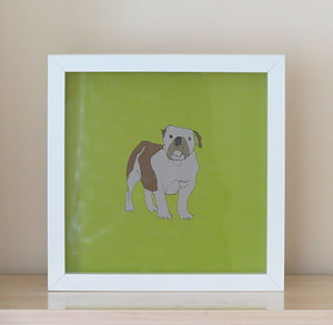 British Bulldog Print - children's pictures & paintings