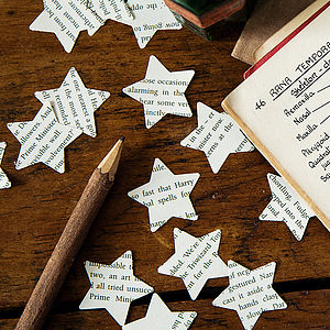 Star Confetti From Harry Potter Books - confetti, petals, sparklers