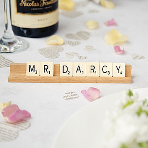 Personalised Vintage Scrabble Place Name - table decorations