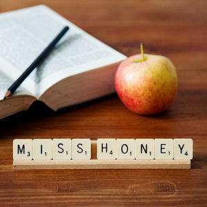 Personalised Vintage Scrabble Desk / Place Name - table decorations