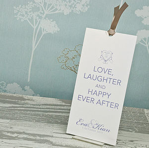 Happy Ever After Wallet Wedding Invitation - personalised