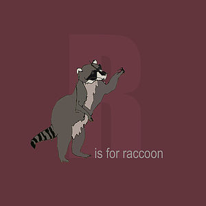 'R Is For Raccoon' Print
