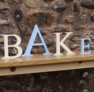 'Bake' Large Wooden Letters