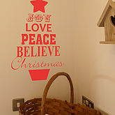 Christmas Tree Quote Wall Sticker - christmas decorations