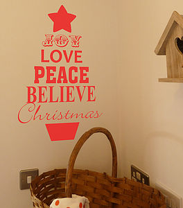 Christmas Tree Quote Wall Sticker