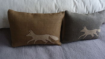 Little Town Or Country Fox Cushion